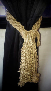 Brown Macrame Tie Backs