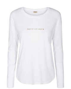 Passion White Long Sleeve Tee