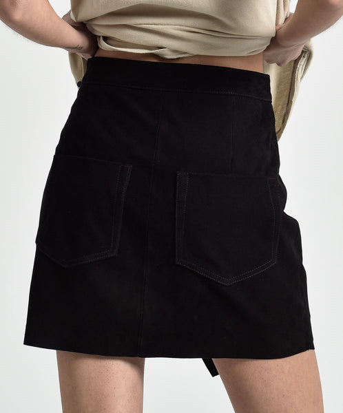 Black Suede Wild Thing Skirt