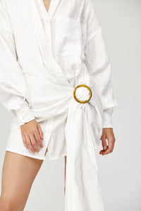 Herald Shirt Ivory Dress