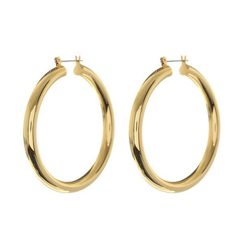 Amalfi Tube Gold Hoops