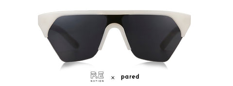 P.E Nation x PARED Defender Off White Sunglasses