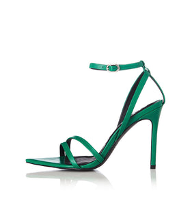 Duana Green Leather Heel