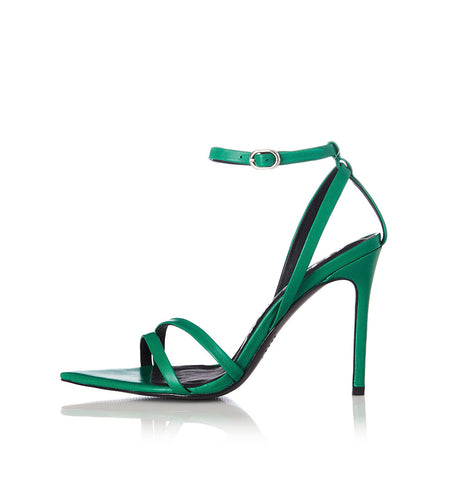 Duana Green Leather Heel Was $199 Now $139