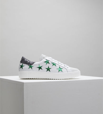 Stella - White / Green / Graphite Sneakers