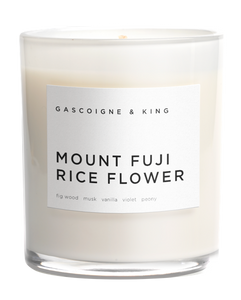 Mount FUJI Rice Flower Soy Wax Candle