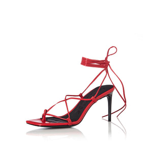 Inika Red Leather Heel
