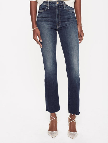 Hustler On The Edge Ankle Frey Blue Denim Jeans Was $349 Now $179