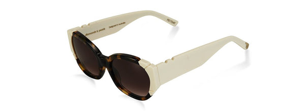 Diamonds and Pearls Dark Tortoise/Ivory Sunglasses