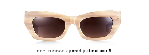 Bec & Bridge X Pared Petite Amour Bone Tort Sunglasses