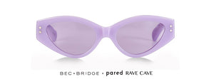 Bec & Bridge X Pared Rave Cave Lilac Clear Lense Sunglasses