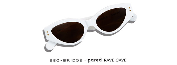 Bec + Bridge X Pared Rave Cave White Brown Lens  Sunglasses