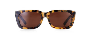 Past & Present Dark Tortoise Rectangle Sunglasses