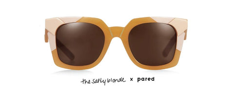 Tints & Tones x PARED  The Salty Blonde Peach Sunglasses