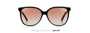Steark & Christensen + Pared Black Gold Pink Lense Swallow Style 02 Sunglasses
