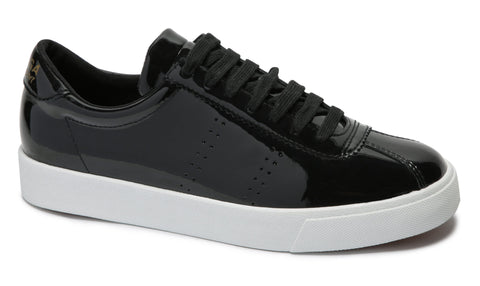 2843 Clubs Patentw Black Leather Sneaker Was $109 Now $49