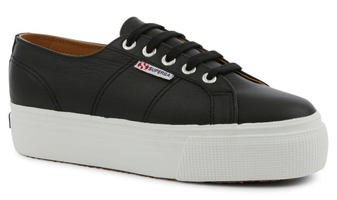 Black Leather 2790 Platform Sneaker