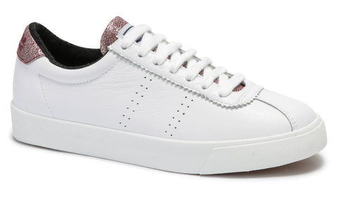 2843 Comflealamew White and Wine leather Sneaker