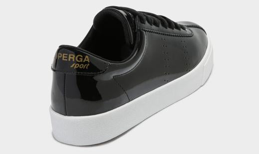 2843 Clubs Patentw Black Leather Sneaker