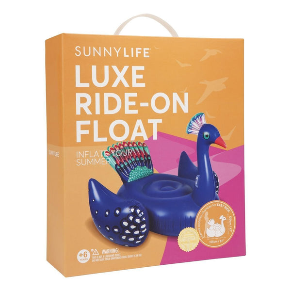 Luxe Ride-On Float Peacock Inflatable