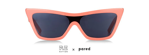 P.E Nation x Pared Star Force Peach Sunglasses