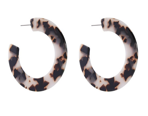 Paris Cream Tort Open Wide Hoop Earring
