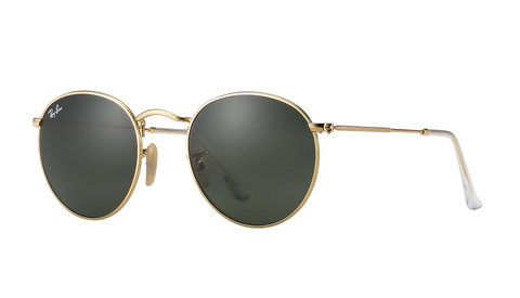 Round Metal Arista w/ Green Gradient Sunglasses