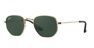Hexagonal Gold w/ Green Gradient Sunglasses