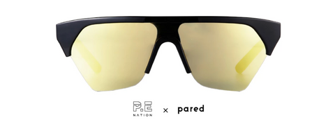 P.E Nation x PARED Defender Black/Gold Sunglasses