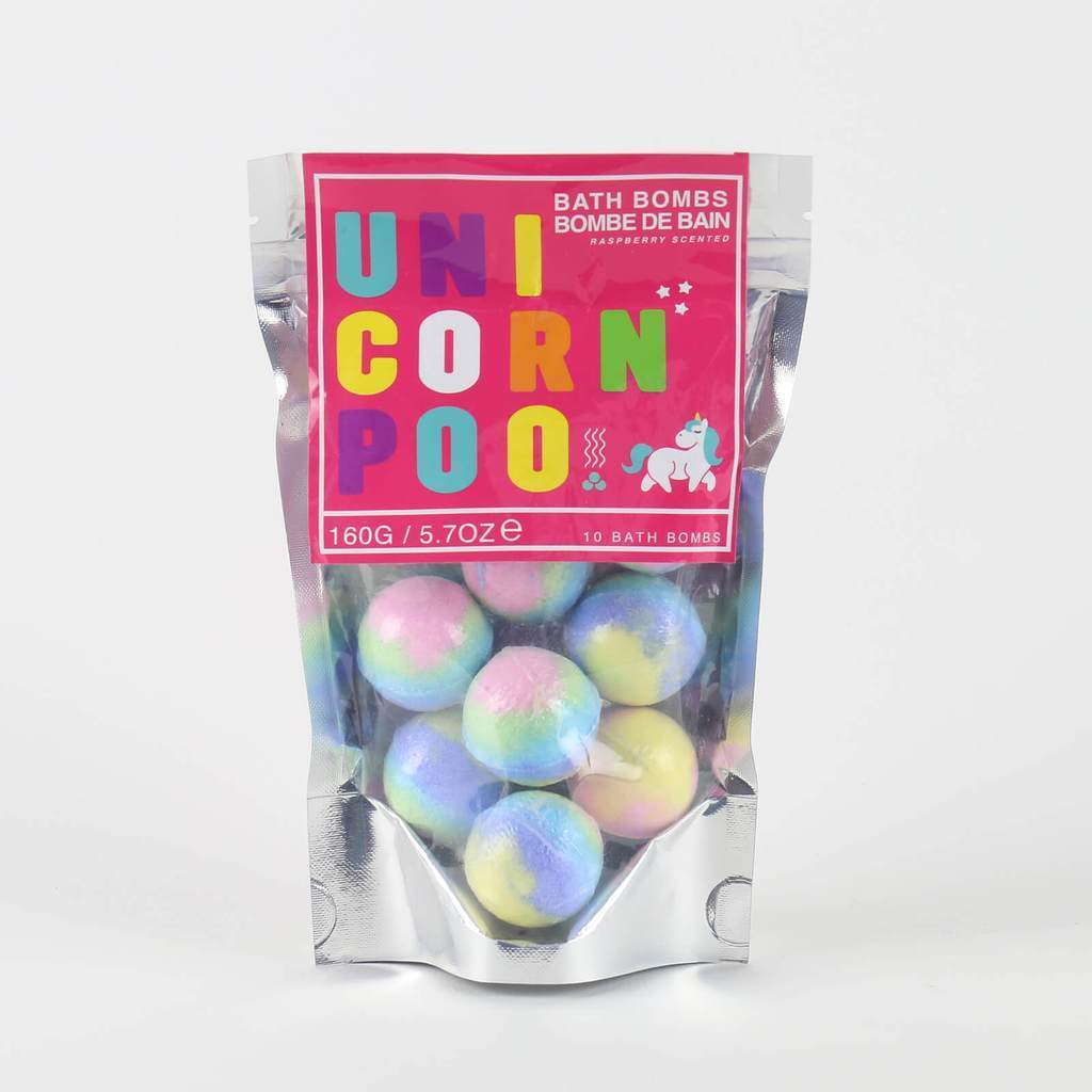 Unicorn Poop Bath Bombs