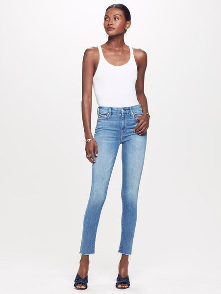 Looker Ankle Fray Birds Of Paradise Blue Denim Jeans