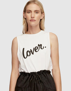 Lover signature top white