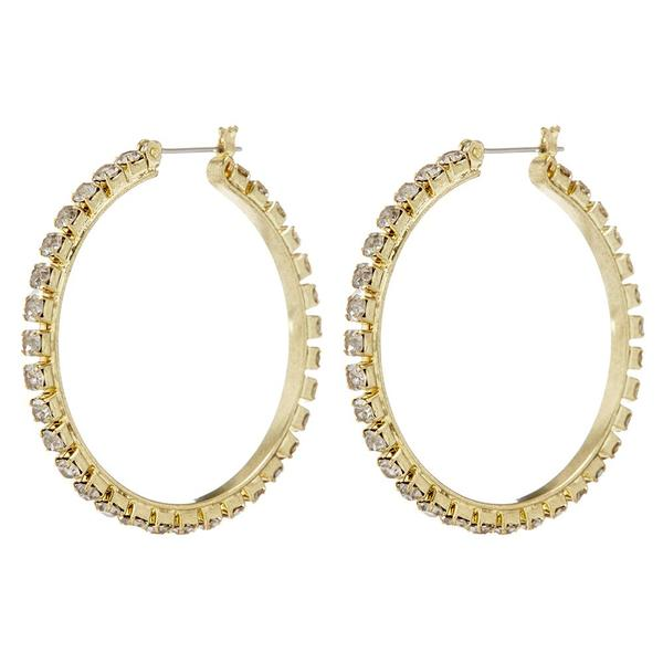 The Gemma Swarovski Crystal Gold Hoops