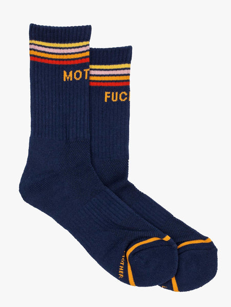 Navy Mother F*CKER Socks