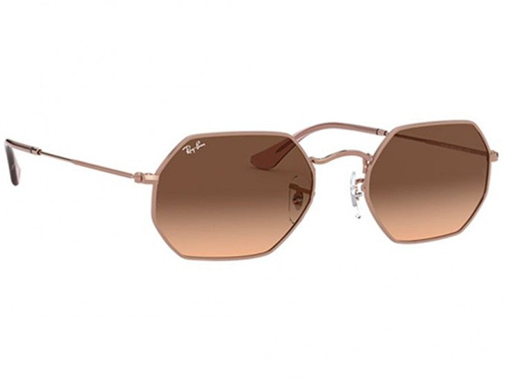 Ray-Ban Octagonal Rose Gold/Brown Pink Gradient Sunglasses