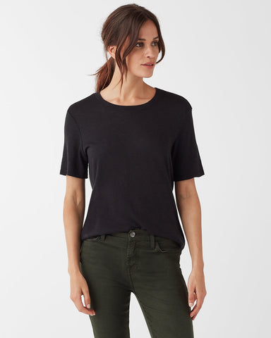 Zoe Black Short Sleeve Crew Neck Tee