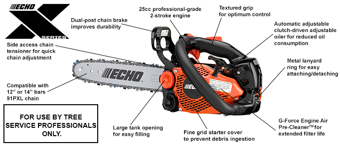 Echo CS-2511T Professional Top Handle Chain Saw - Powerhead Only (Pre-Order Only - Not in Stock)