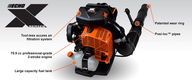 Echo PB-9010T (Industry's Most Powerful) Backpack Blower (Pre-Order Only - Not in Stock)