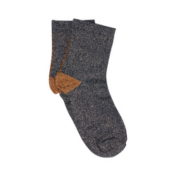 solid sock - black orange