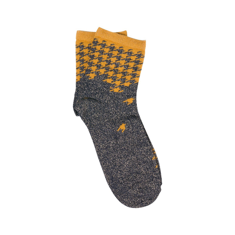 check sock - black orange