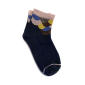 mermaid sock - dark blue