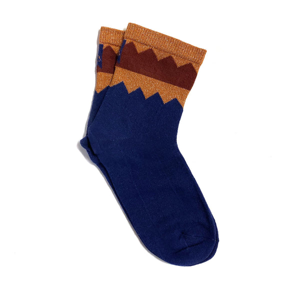 shark sock - blue