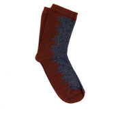 wave sock - brown