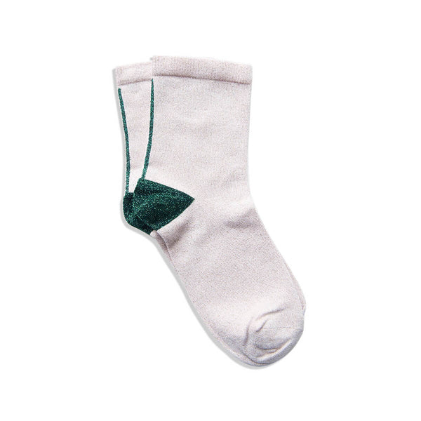 solid sock - rose emerald