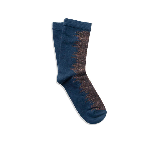 wave sock - blue