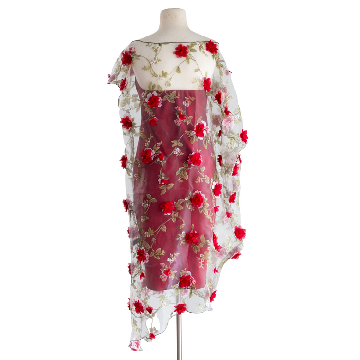 "by VINNIK ""Red Mimi 3D Flower Organza"" Cabaletta Dress"