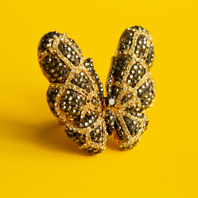 Butterfly Pave Cocktail Ring