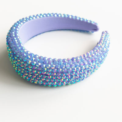 Purple Padded Rhinestone Headband