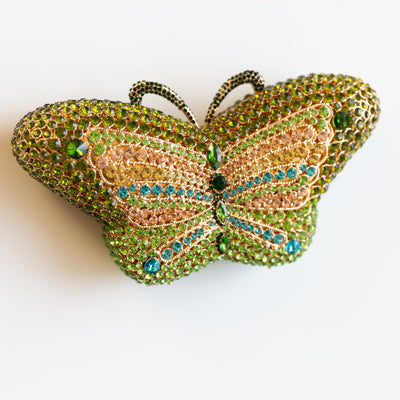 TARA:  Crystal Butterfly Clutch