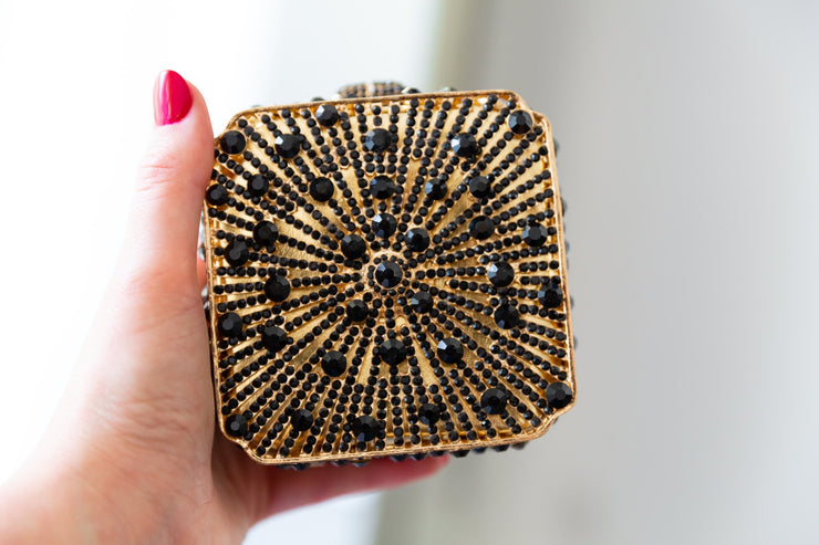 TARA: Art Deco Small Box Clutch